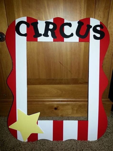themed picture frames a photo op picture frame for a circus theme birthday
