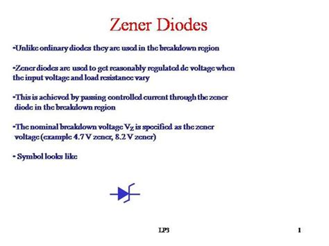 zener diode construction and working zener diode authorstream