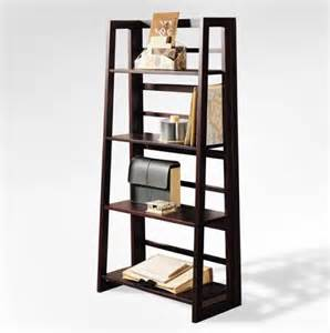 cheap ladder shelves cheap dolce 4 shelf folding bookcase walnut sale
