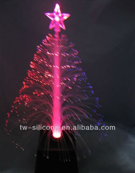 wholesale 2013 fiber optic mini led christmas tree white