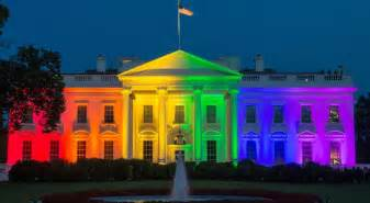 what color is the white house white house in rainbow colors