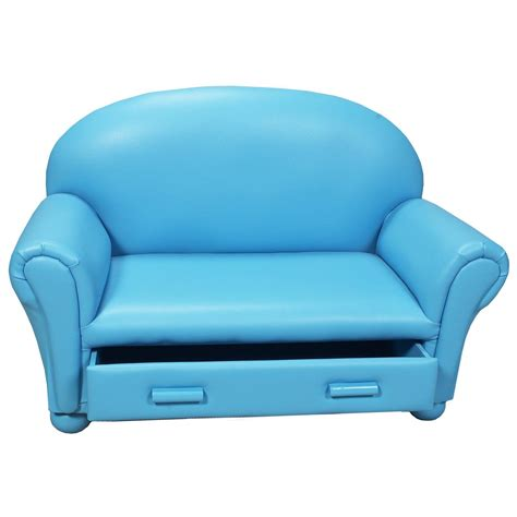 Childrens Sofa With Storage Drawer Kids Upholstered