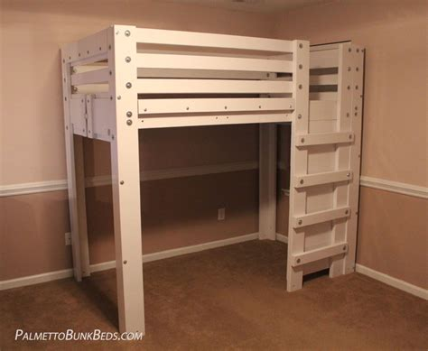 bed lofts twin loft bed plan palmetto bunk beds