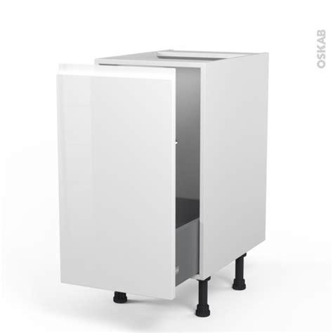 meuble de cuisine blanc brillant meuble de cuisine sous 233 vier ipoma blanc brillant 1 porte