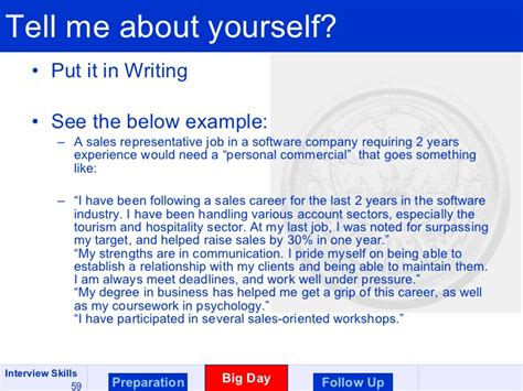 Tell Me About Yourself Mba Graduate by Skills Course