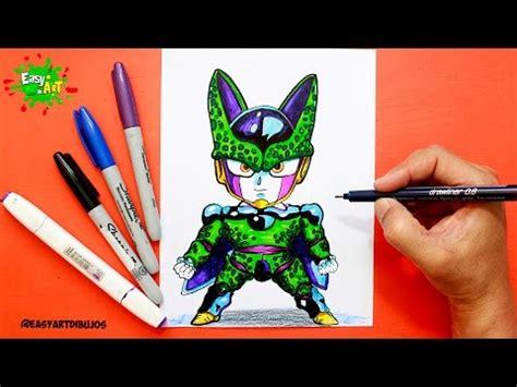 imagenes kawaii de dragon ball z como dibujar a cell de dragon ball z kawaii