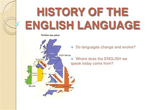 origin of the history of the language