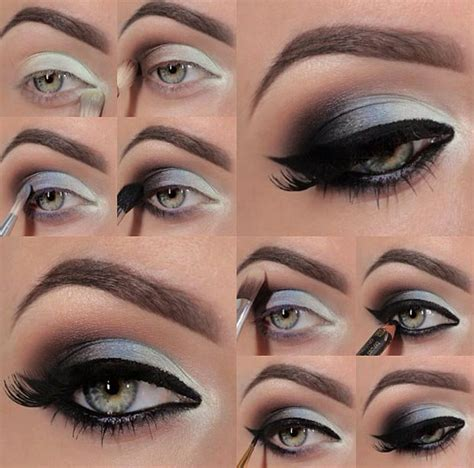 eyeshadow tutorial dark makeup tutorial dark grey smokey eye nadyana magazine