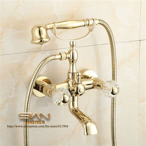 bathtub faucet with handheld shower head gold color bathroom clawfoot bathtub faucet handheld