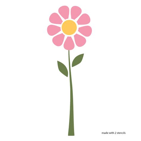 printable daisy stencils daisy flower stencil paint flowers stenciling and flower