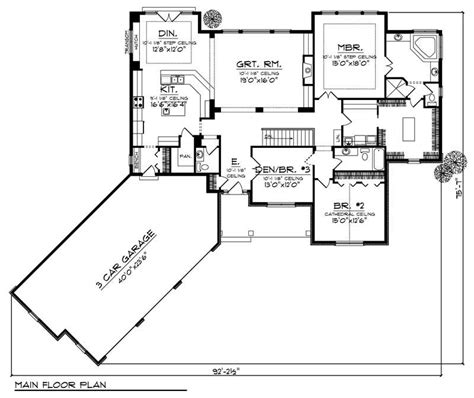 elegant two story with angled garage 6855am angled garage ranch house plans home desain 2018