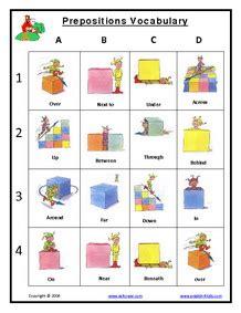 prepositions grammar worksheets