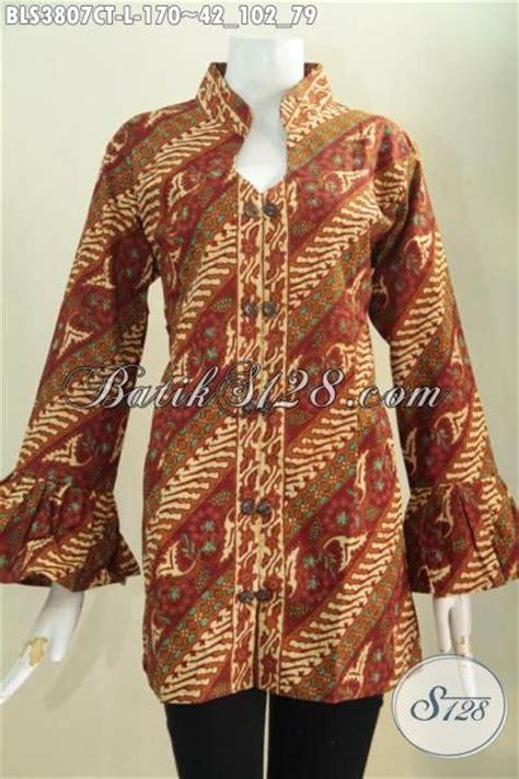 desain baju kerah online jual online baju blus batik klasik parang bunga desain