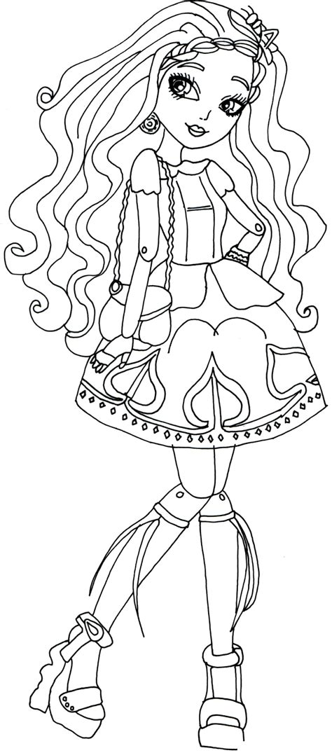 ever after high coloring pages lizzie ever after high coloring pages 35 coloring pages for kids