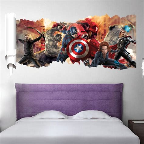 poster wallpaper for bedrooms marvel s the avengers wall sticker decals for kids room