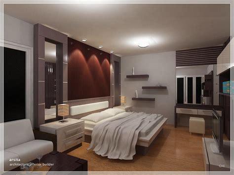 model desain interior kamar tidur utama rumah minimalis