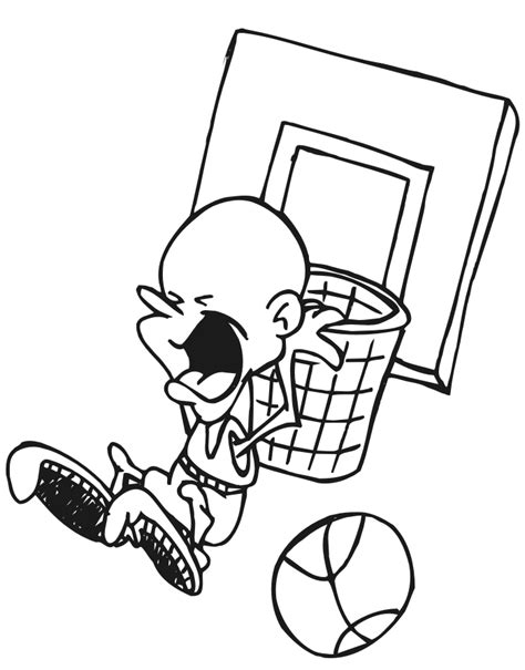 coloring pages with basketball printable basketball coloring pages coloring home