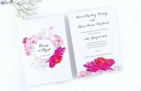 Peony Wedding Invitation