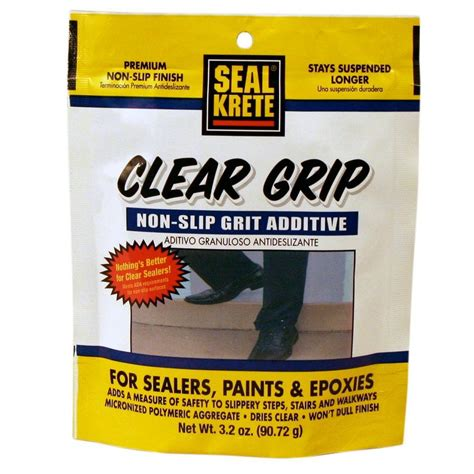 Kitchen Faucets Home Depot by Seal Krete 3 2 Oz Clear Grip Anti Skid Additive 402002