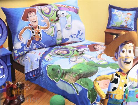 Buzz Lightyear Bed Set Disney Story Woody Buzz Lightyear Toddler Bedding Set 4pc Pictures