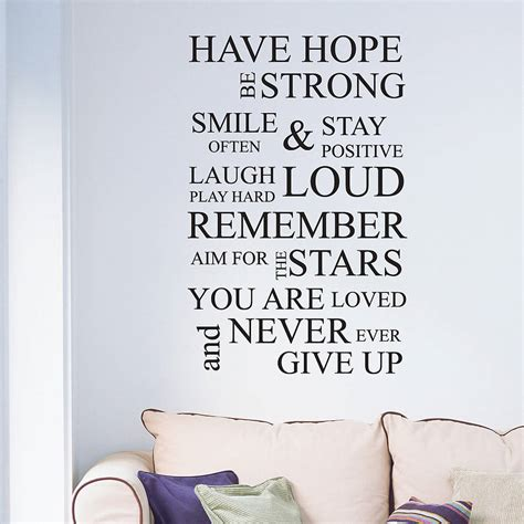wall stickers inspirational quotes inspirational wall quote wall sticker by nutmeg notonthehighstreet