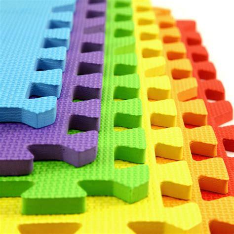 play mat foam tiles incstores rainbow play mats 2ft x 2ft 6 tiles 24 sqft