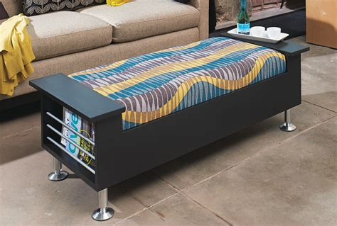 Make A High Style Storage Ottoman My Home My Style Build Storage Ottoman