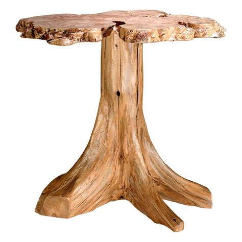 Legacy Kitchen Cabinets rustic log burl accent table custom dining furniture
