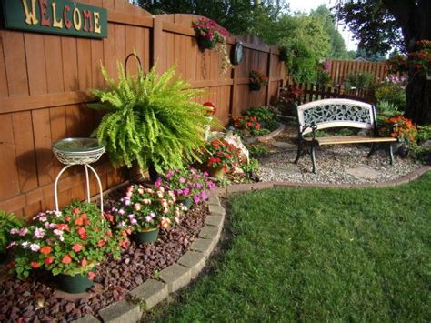 25 best ideas about rock flower beds on