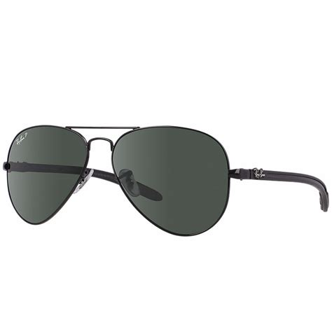 Tm Ban polarized ban aviator carbon fibre sunglasses black