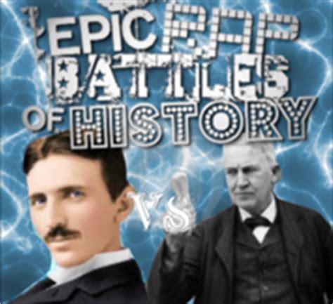 Epic Rap Battles Of History Edison Vs Tesla Image Nikola Tesla Vs Edison Png Epic Rap