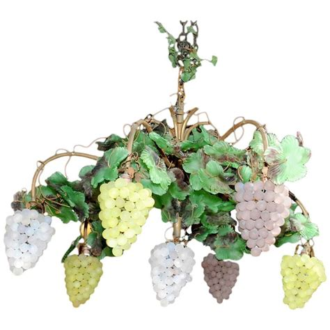 Grape Chandelier Venetian Glass Grape Chandelier At 1stdibs