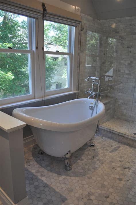 master bathroom tubs marble hex tile design ideas
