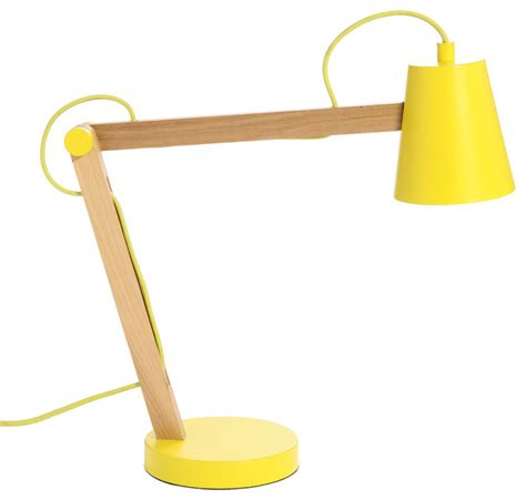 Yellow Desk Lamp Frandsen Play Table Lamp Yellow Natural Wood