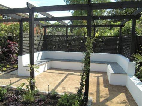 Fireplace Cover Pergola With Fixed Seating Garden Ideas Garden Design
