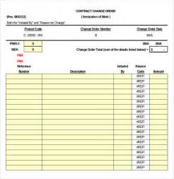free change order template excel change order template 20 free excel pdf document