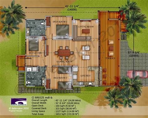tropical home floor plans tropical house plans eco tropic building design ideal