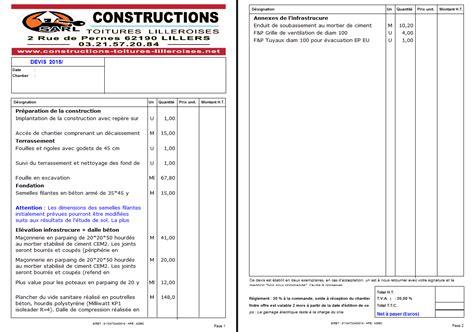 Exemple Devis Construction Maison 3767 by Exemple Devis Construction Maison Devis Construction