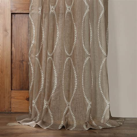 sheer taupe curtains grecian taupe printed sheer curtain