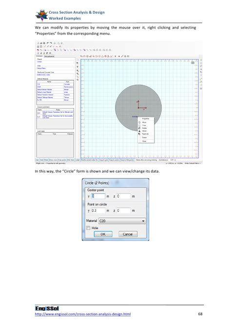 cross section analysis cross section analysis and design worked exles