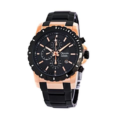 Jam Tangan Pria Alexandre Christie Ac 6459 Rosegold Black Original jual alexandre christie ac6141 stainless steel jam tangan