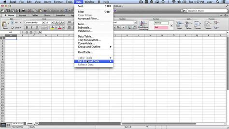 Microsoft Excel For Mac Importing Html Tables Youtube 300 Import Templates Excel