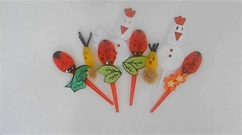 fiori fatti con cucchiai di plastica pasqua coccinelle gallinelle e pulcini con cucchiai di