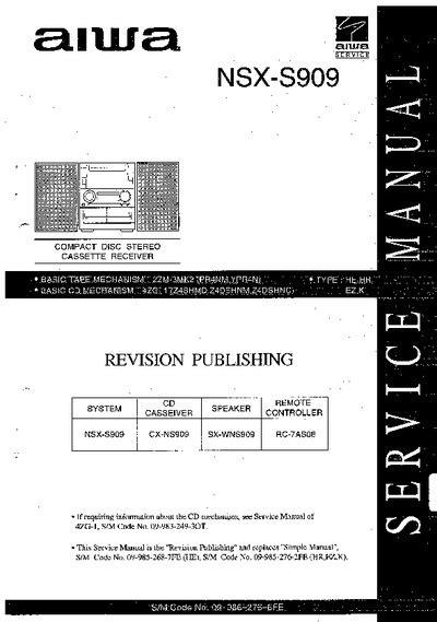 aiwa nsx  service manual repair schematics