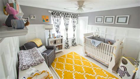 Boys Bedroom Paint Ideas by Gray Amp Yellow For A Gender Neutral Nursery Youtube