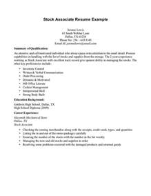 Exle Of Resume With No Experience by Resume Exles No Experience Resume Exles No Work Experience Stock Associate Resume