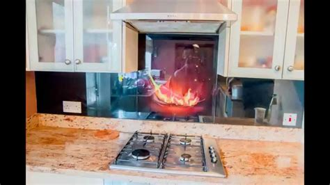 Kitchen Backsplash Panels by Glass Kitchen Splashbacks Collection Creoglass Youtube