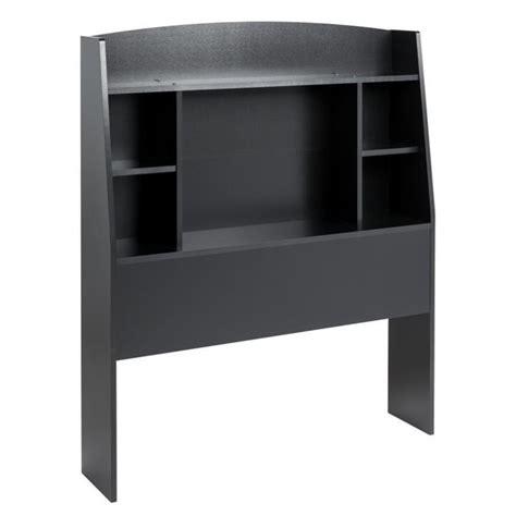 black headboard twin twin bookcase headboard in black bhft 0401 1
