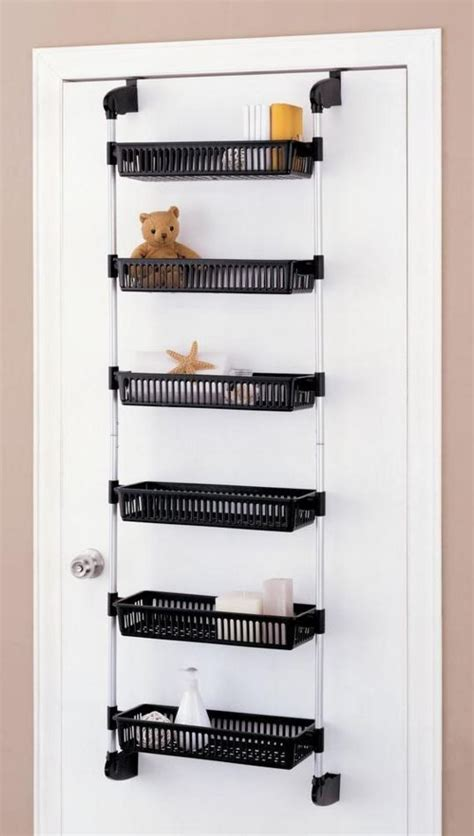 Over Door Shelf Basket Closet Pantry Kitchen Storage Rack Closet Door Rack