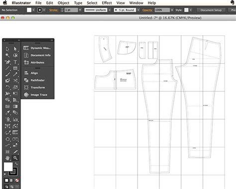 sewing pattern adobe illustrator pattern drafting with illustrator cloth habit